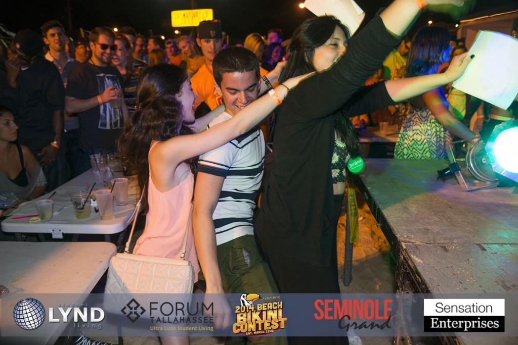 Cancun club bikini contest every night